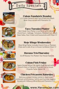 daily specials jacksonville